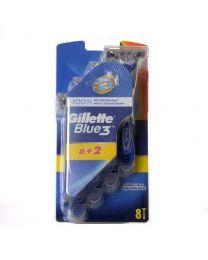 Blue 3 самобръсначка за мъже 6+2 бр. гратис