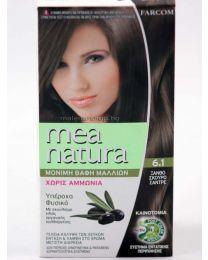 Mea Natura боя за коса /6.1 пепелно тъмно русо/