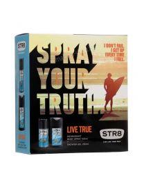 Live True Мъжки подаръчен комплект, парфюм-дезодорант + душ гел
