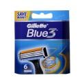 Blue 3 резервни ножчета за бръснене, опаковка от 6 броя